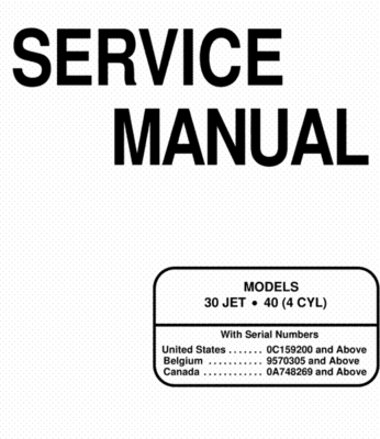 Product picture Mercury Mariner 30 Jet 40 Service Manual 2 Stroke