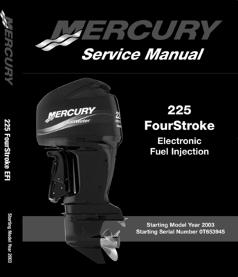 Product picture Mercury/Mariner 225 HP EFI (4 Stroke) Service Manual