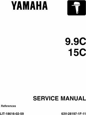 Product picture Yamaha Outboard Service Manual 9.9c, 15c