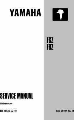 Product picture Yamaha Outboard F6z, F8z Service Manual