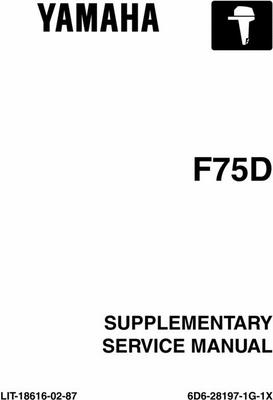 Product picture Yamaha Outboard F75TR Service Manual